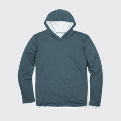 DOUBLE LAYER HOODIE - Blue