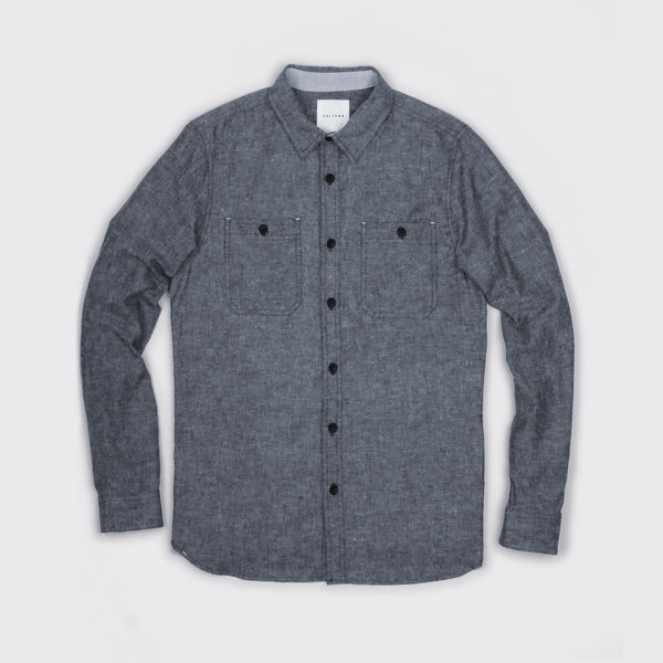 THE ELLWOOD - IN DARK GREY HEMP/COTTON