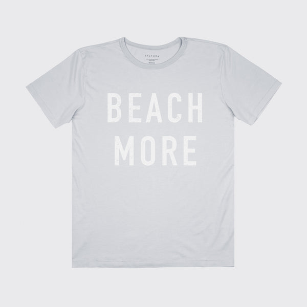 BEACH MORE TEE - CONCRETE