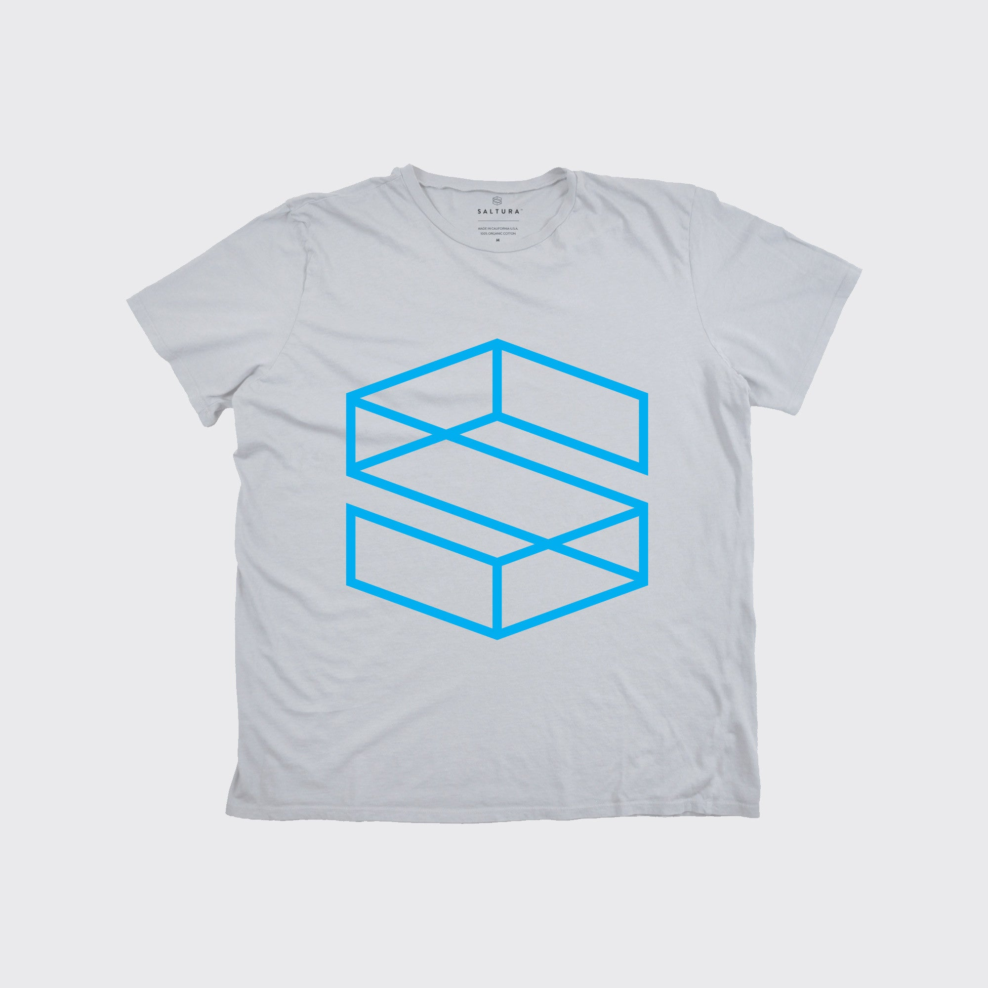KIDS S BLOCK TEE - Yellow/Cyan