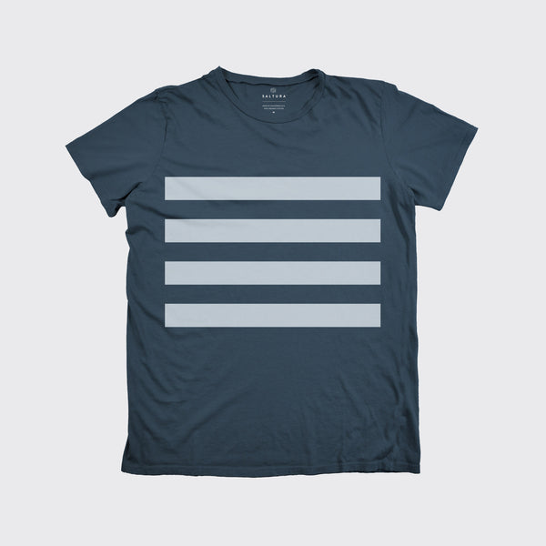 NAVAL STRIPE TEE - Blue