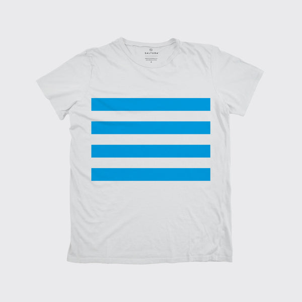 NAVAL STRIPE TEE - White