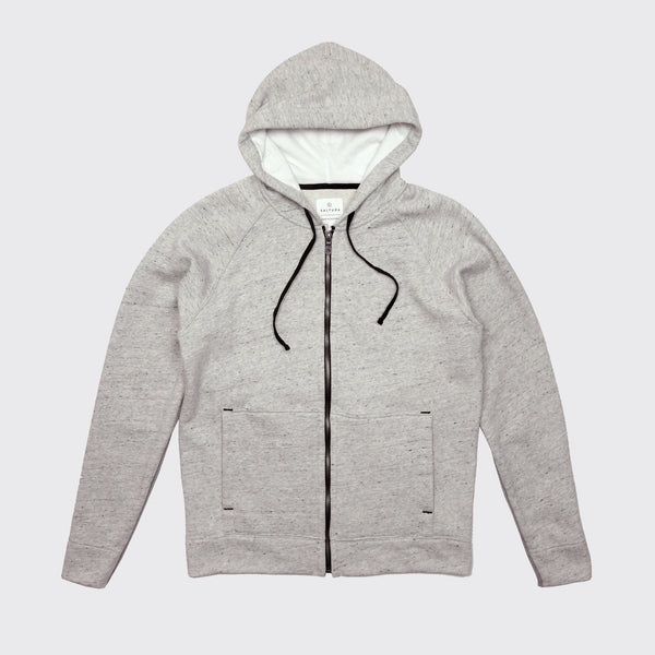 AIRSTREAM ZIPPED HOODIE - Salt & Pepper Terry
