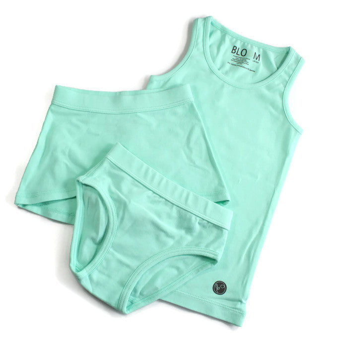 Bloom Organic Tank Set - Mint Solid
