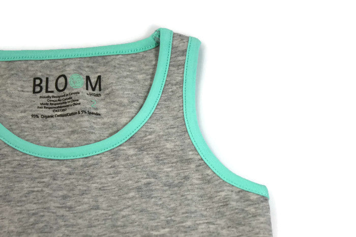 Bloom Organic Tank Set - Boxer Brief Grey / Mint