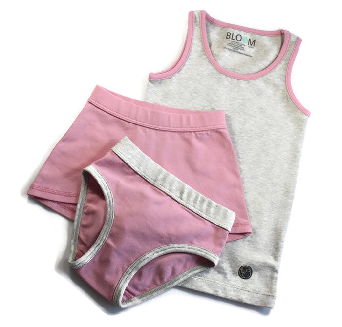 Bloom Organic Tank Set - Grey and Pink