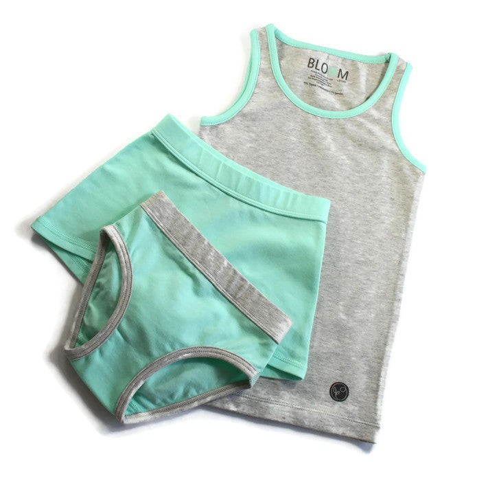 Bloom Organic Tank Set - Grey with Mint