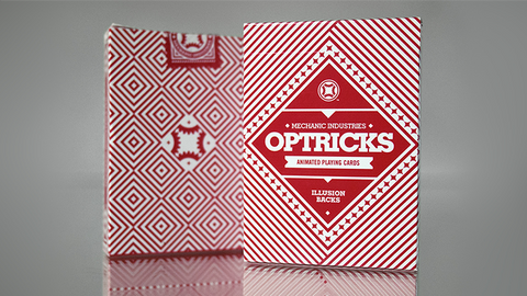 Red Mechanic Optricks - Playing Cards and Magic Tricks - 52Kards