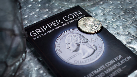Gripper Coin (Quarter) - Playing Cards and Magic Tricks - 52Kards