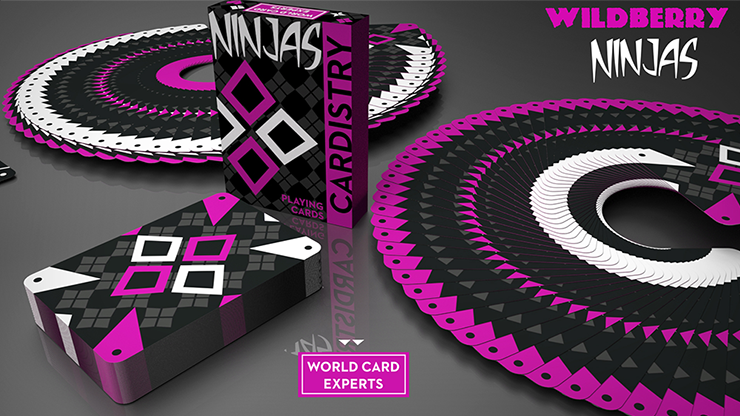 Cardistry Ninja Wildberry - Playing Cards and Magic Tricks - 52Kards