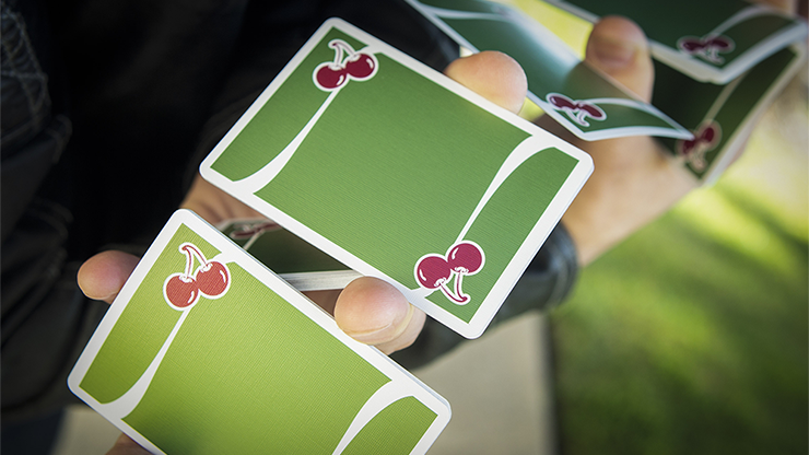 Cherry Casino (Sahara Green) - Playing Cards and Magic Tricks - 52Kards
