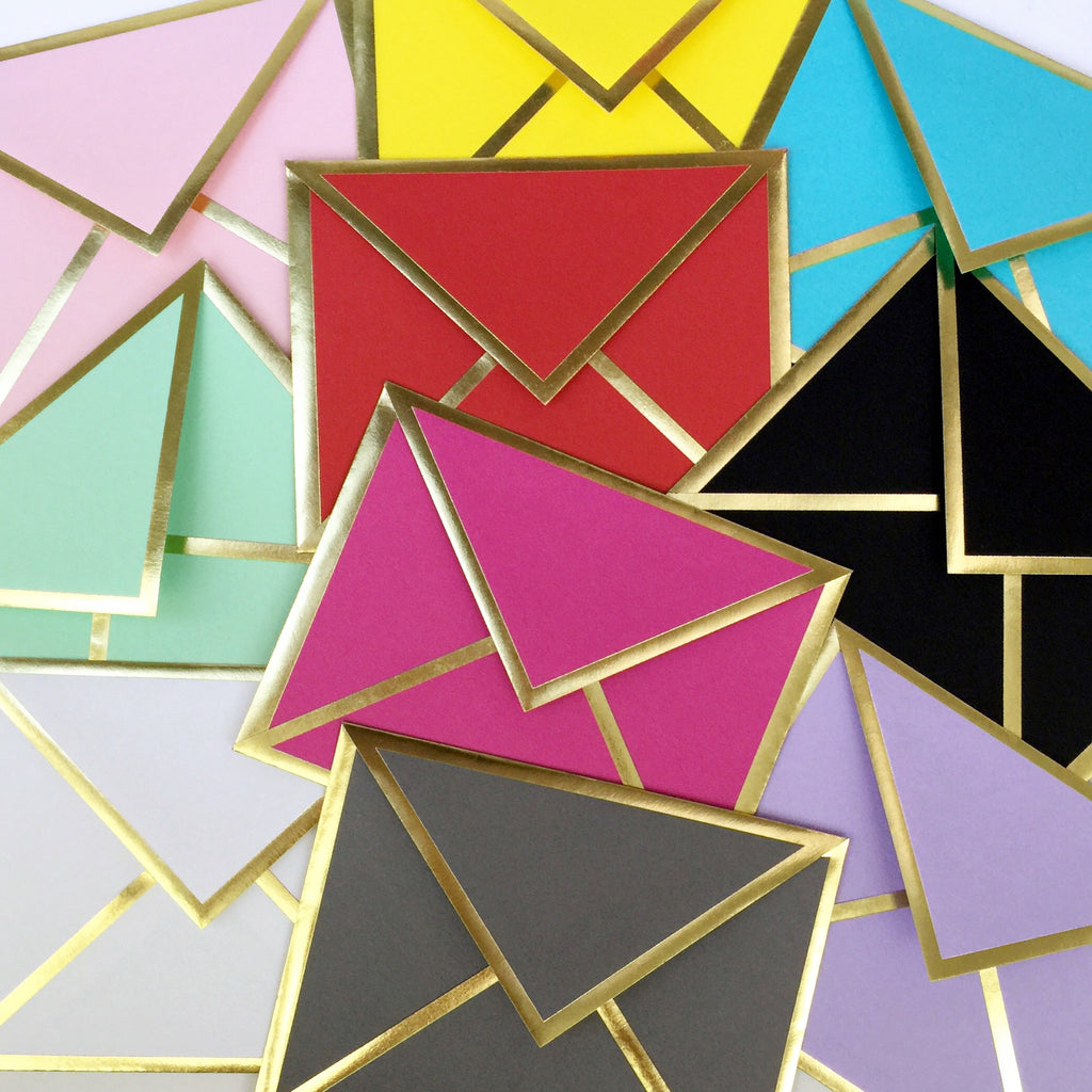 Gold Bordered Envelopes