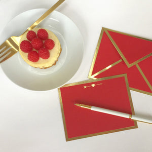 Arrow Through Heart Red Card & Envelope