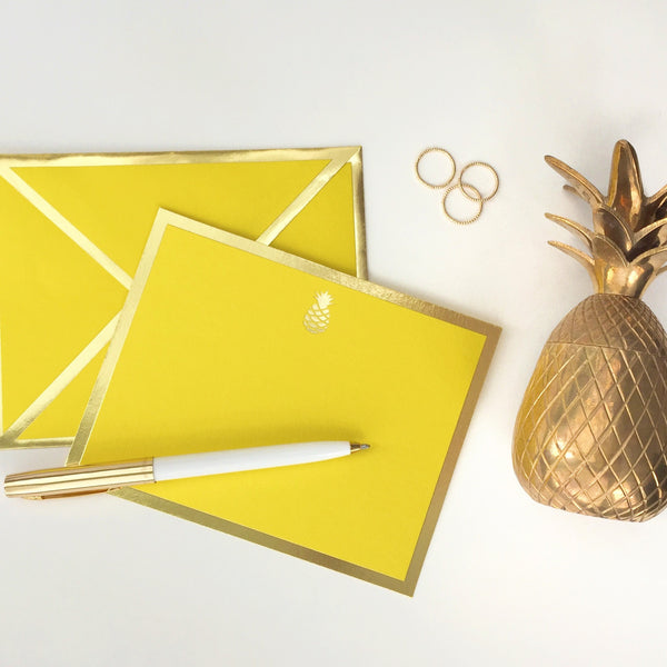 Pineapple Yellow Card & Envelope