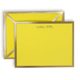 Birthday Wishes Yellow Card & Envelope