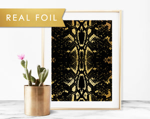 Black Snakeskin Art Print