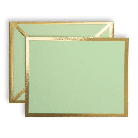 Blank Mint Green Card