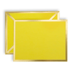 Blank Yellow Card