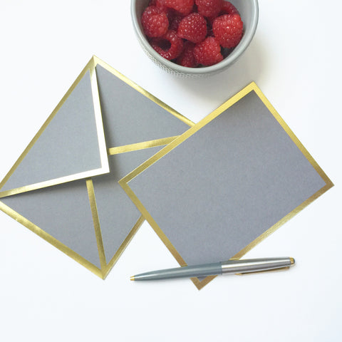 Blank Gray Card & Envelope