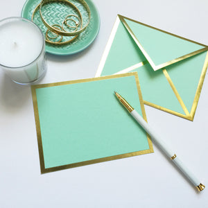 Blank Mint Green Card & Envelope