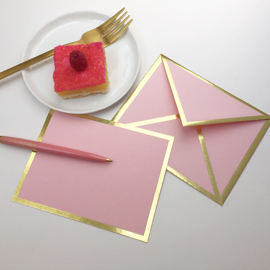 Blank Pink Card & Envelope