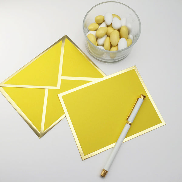 Blank Yellow Card & Envelope
