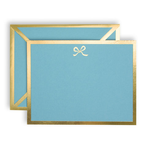 Bow Turquoise Card