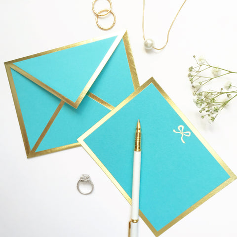 Bow Turquoise Card & Envelope