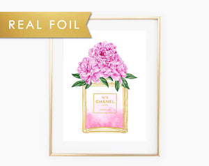 Chanel Peonies Foil Art Print