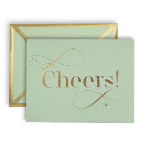 Cheers! Mint Green Card