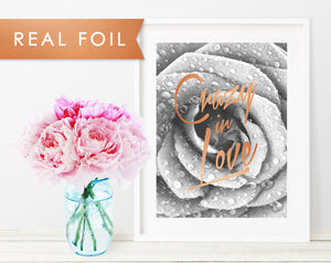 Crazy in Love Real Foil Art Print