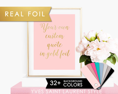 Custom Quote in Cute Script Font on Pink