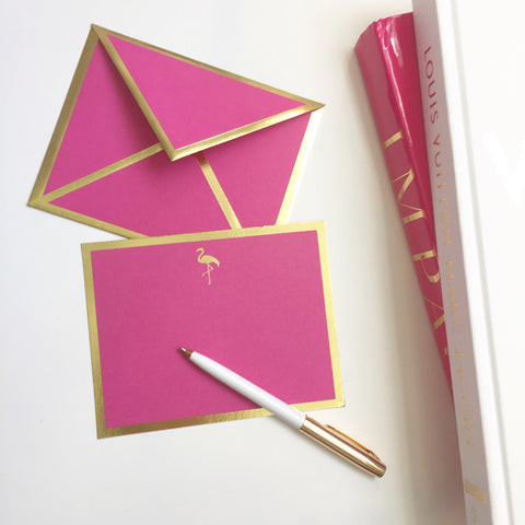 Flamingo Fuchsia Card & Envelope