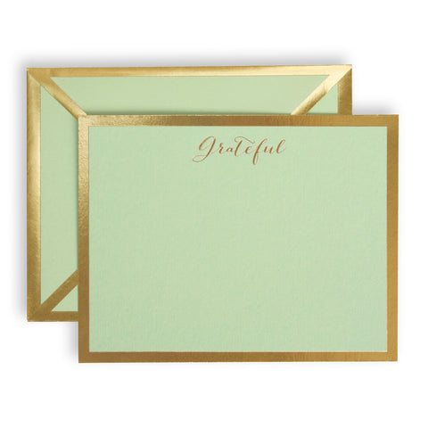 Grateful Mint Green Card