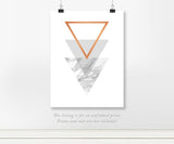 Gray Marble Triangle Art Print