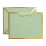 Happy Birthday Mint Green Card & Envelope