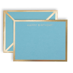 Happy Birthday Turquoise Card