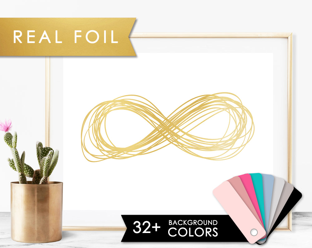 Infinity Sketch- Gold Foil Art Print