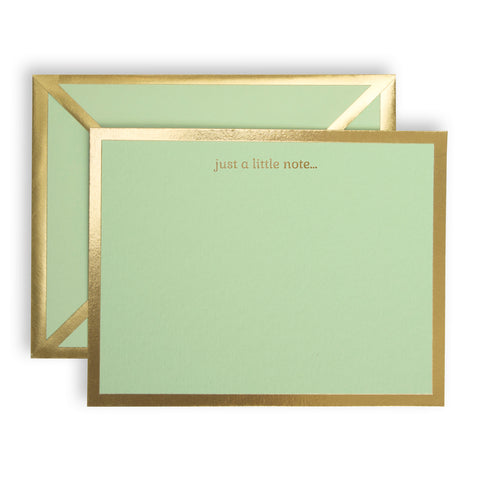 Just a Little Note Mint Green Card