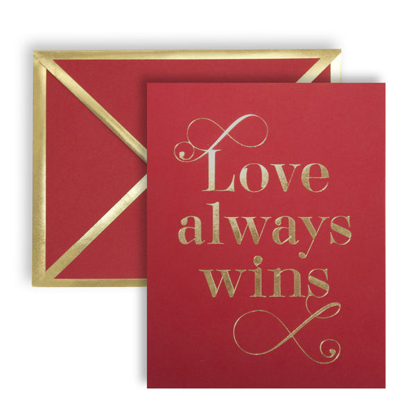 Love Always Wins Red Card