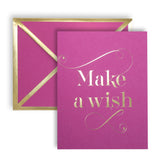 Make A Wish Fuchsia Card