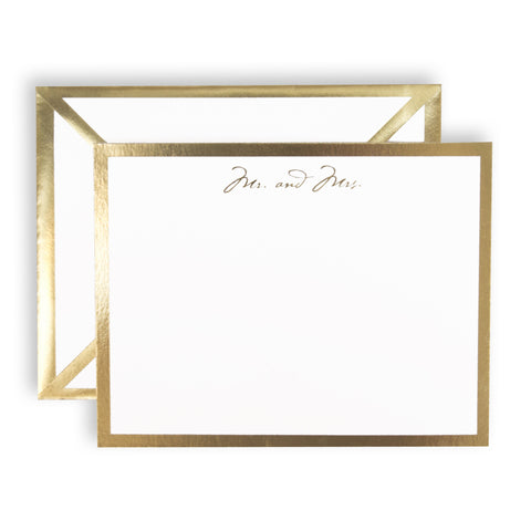 Mr and Mrs White Card