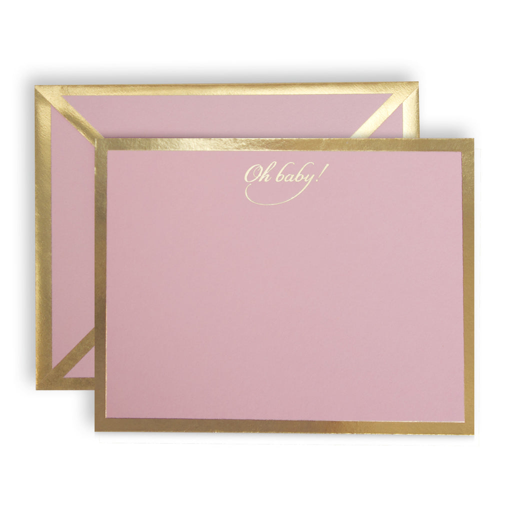 Oh Baby Pink Card