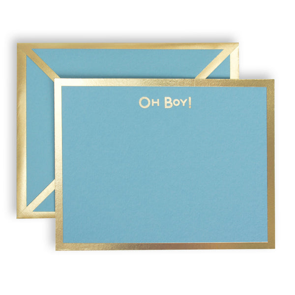 Oh Boy Turquoise Card & Envelope
