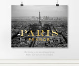 Gold Paris Real Foil Art Print