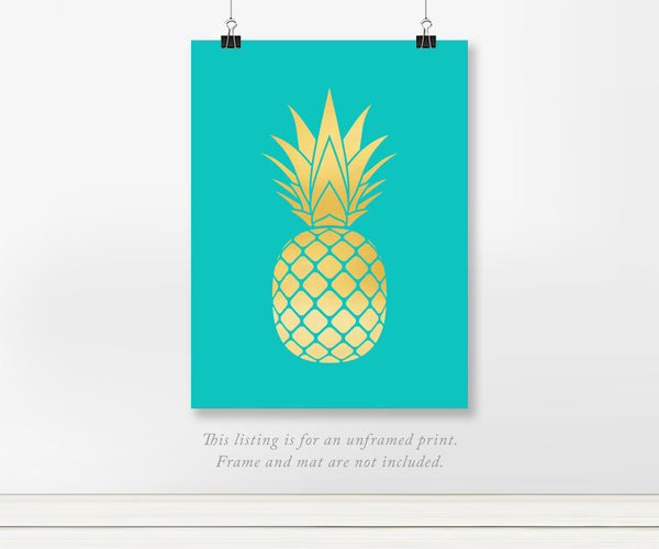 Pineapple Icon Foil Art Print