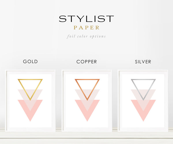 Pink Triangle Real Gold Foil Office Art Print