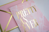 Pretty As Ever Pink Marble Card