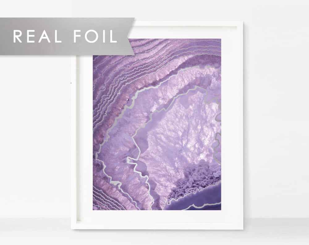 Purple Crystal Agate Art Print