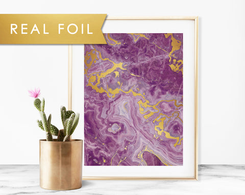 Purple Onyx Real Foil Art Print